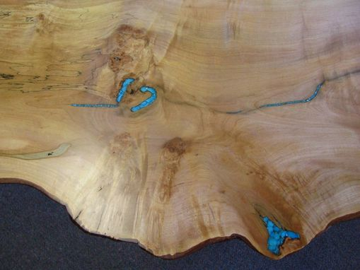 Custom Made Just Right Live-Edge Maple Coffee Table