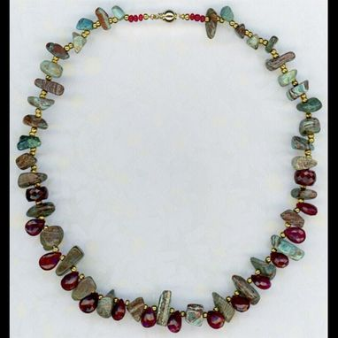 Custom Made Ruby & Zoisite Necklace