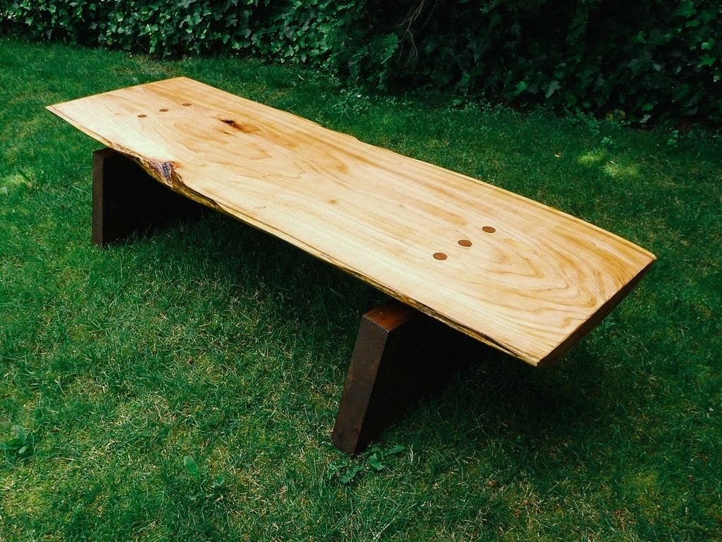 Custom Made Alaska Cedar Slab Coffee Table By Wood Shed
