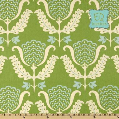 Custom Made 63l X 50w Custom Designer Draperies Waverly One Wish Mint Julep Damask