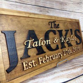 Wedding Sign Decor Banner Gift Family Name Anniversary By Dakota Callahan