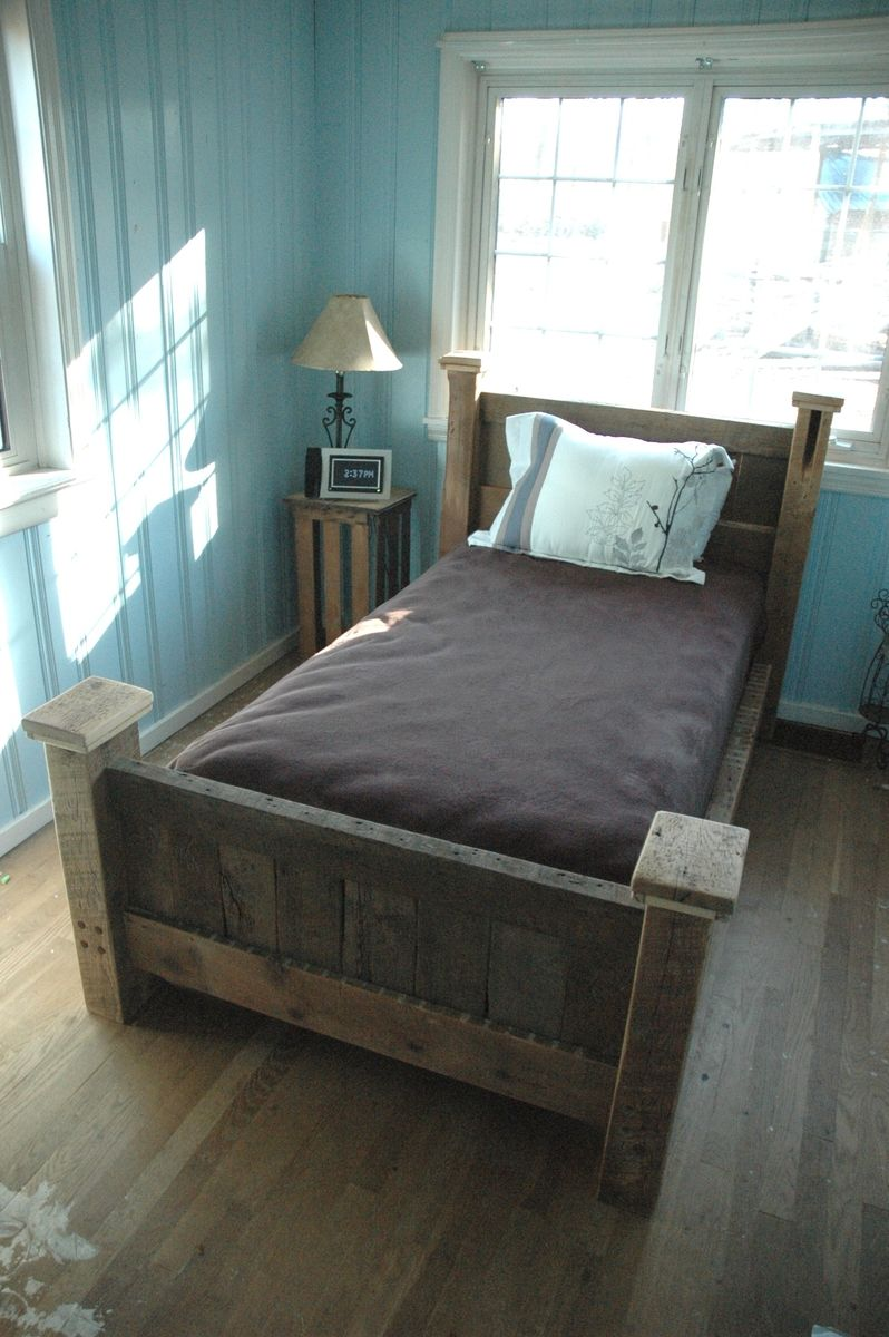 Custom Reclaimed Wood Bed Frame by Decorus Furnishings ...