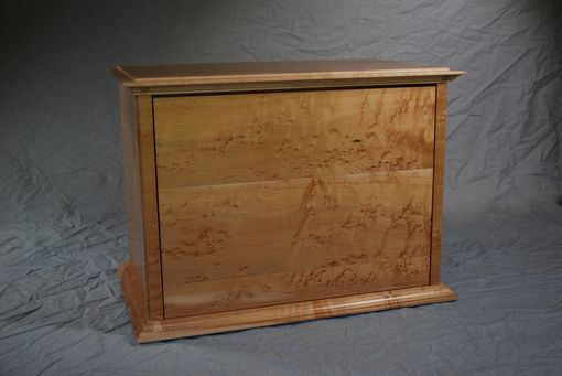 Custom Made Solid Birdseye Maple Six Drawer Jewelry Box #2
