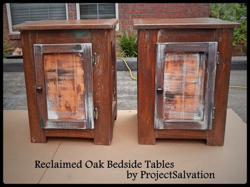 Custom Made Reclaimed Bedside Tables / Reclaimed Nightstands