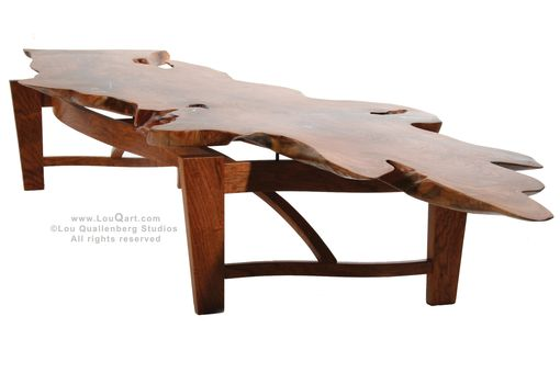 Custom Made Natural Live Edge Mesquite Slab Coffee Table