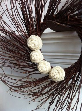 Custom Made Burlap Twig Wreath