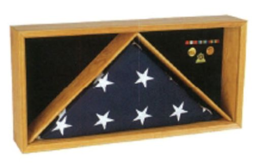 Custom Made Rectangle Flag Medal Case Medal Flag Frame
