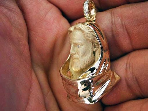 Custom Made Jesus Christ Head/Face Diamond Pendant