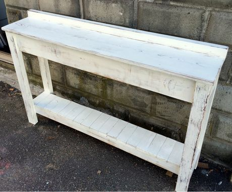 Custom Made Rustic Shabby Chic Sofa/Console Table