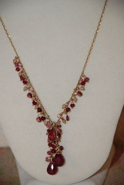 Custom Made Ruby And Tourmaline Necklace