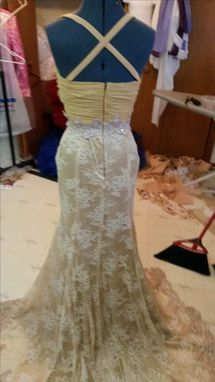 Custom Made Elegant Beige Evening Gown