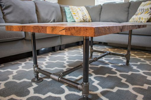 Custom Made Industrial Coffee Table | Barn Wood Coffee Table