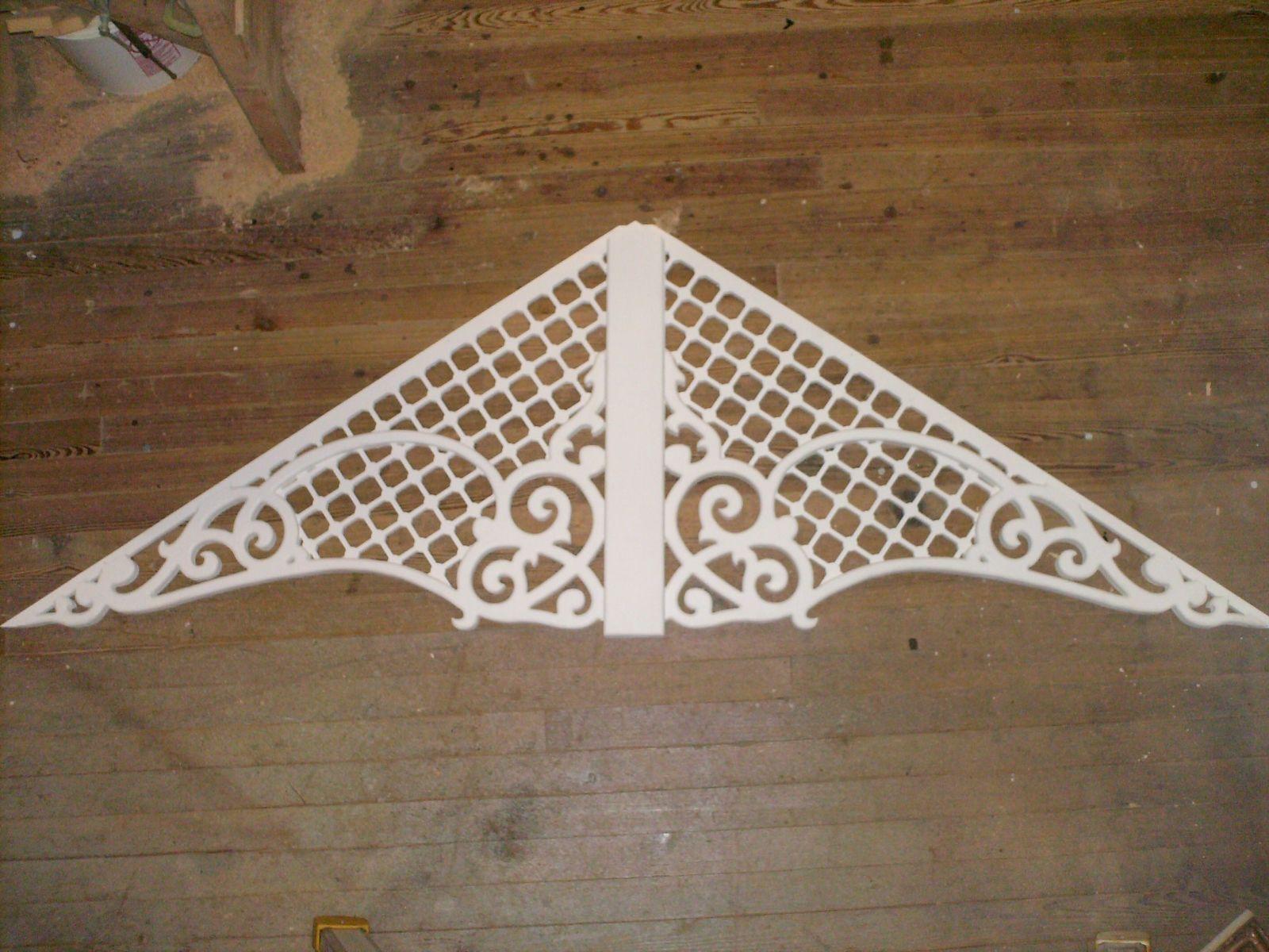 Custom made victorian gingerbread gable decoration by for Victorian gable decorations