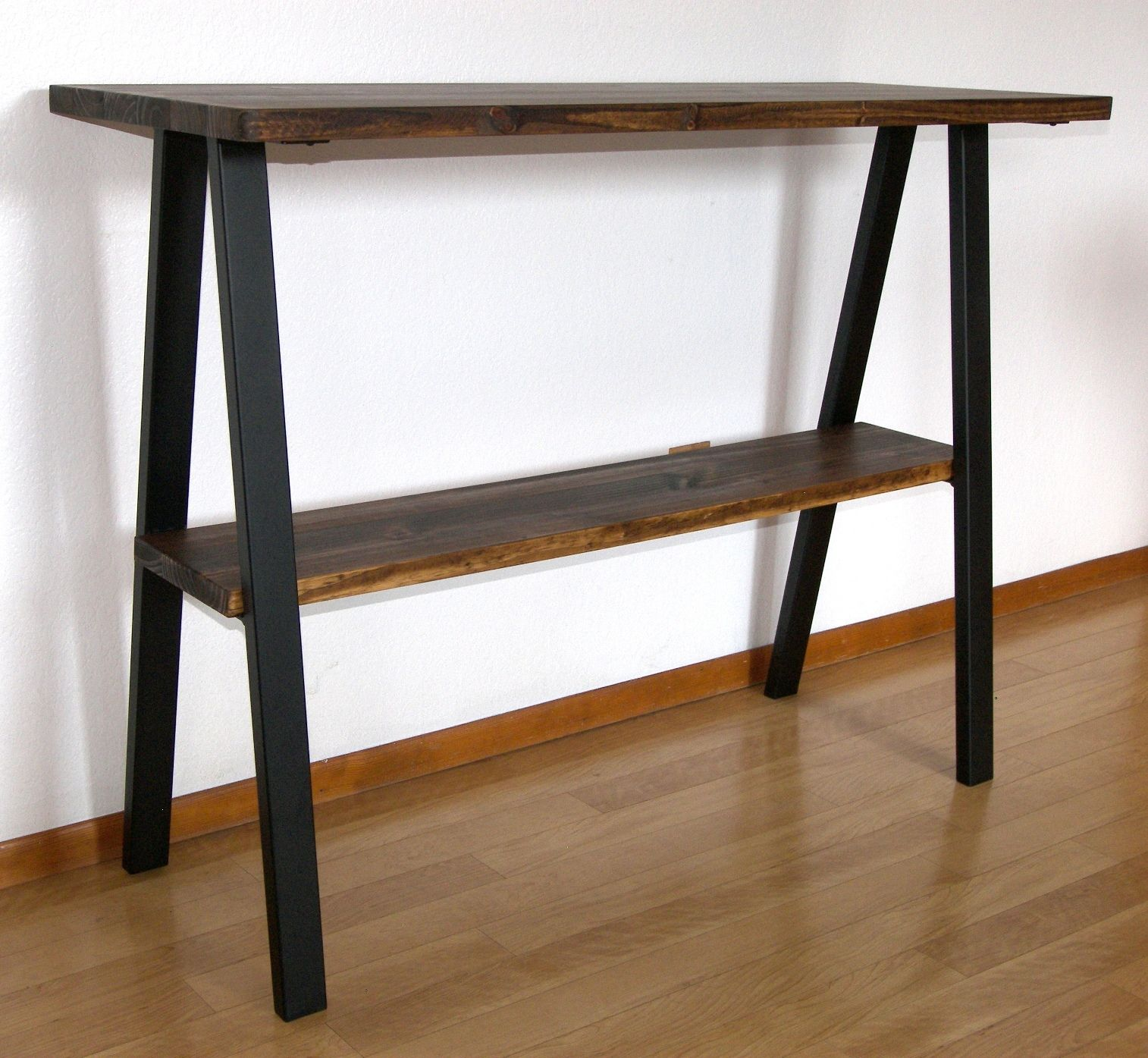 - Hand Crafted Modern Industrial Console Table, Entry Table, Steel