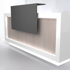 1 gloss white reception counter with led light boutique reception counter