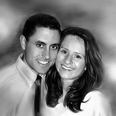 Custom Made Couple Portrait Custom Painting On Canvas Valentine Gift
