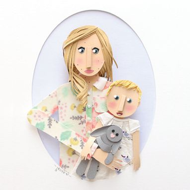 Custom Made Mom And Baby Custom Paper Portrait 5 X 7