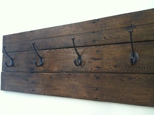 Custom Made Reclaimed Wood Coat Rack