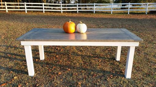 Custom Made Colonial Style Farmhouse Dining Table