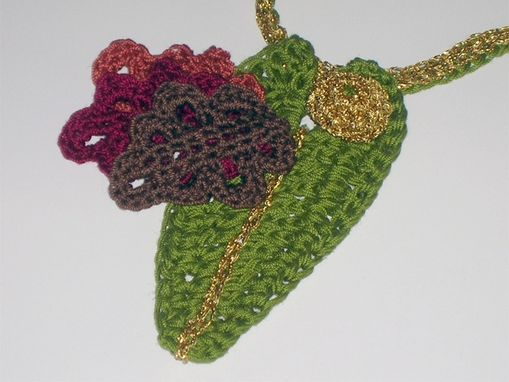 Custom Made Creative Crochet Fall Leaves Necklace