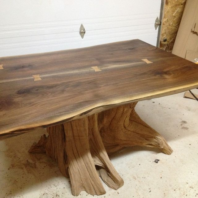 Hand Made Live Edge Black Walnut Dining Room Table By Bois Design