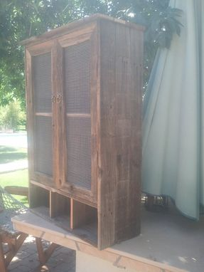 Custom Made Barnwood Liquor Storage Cabinet