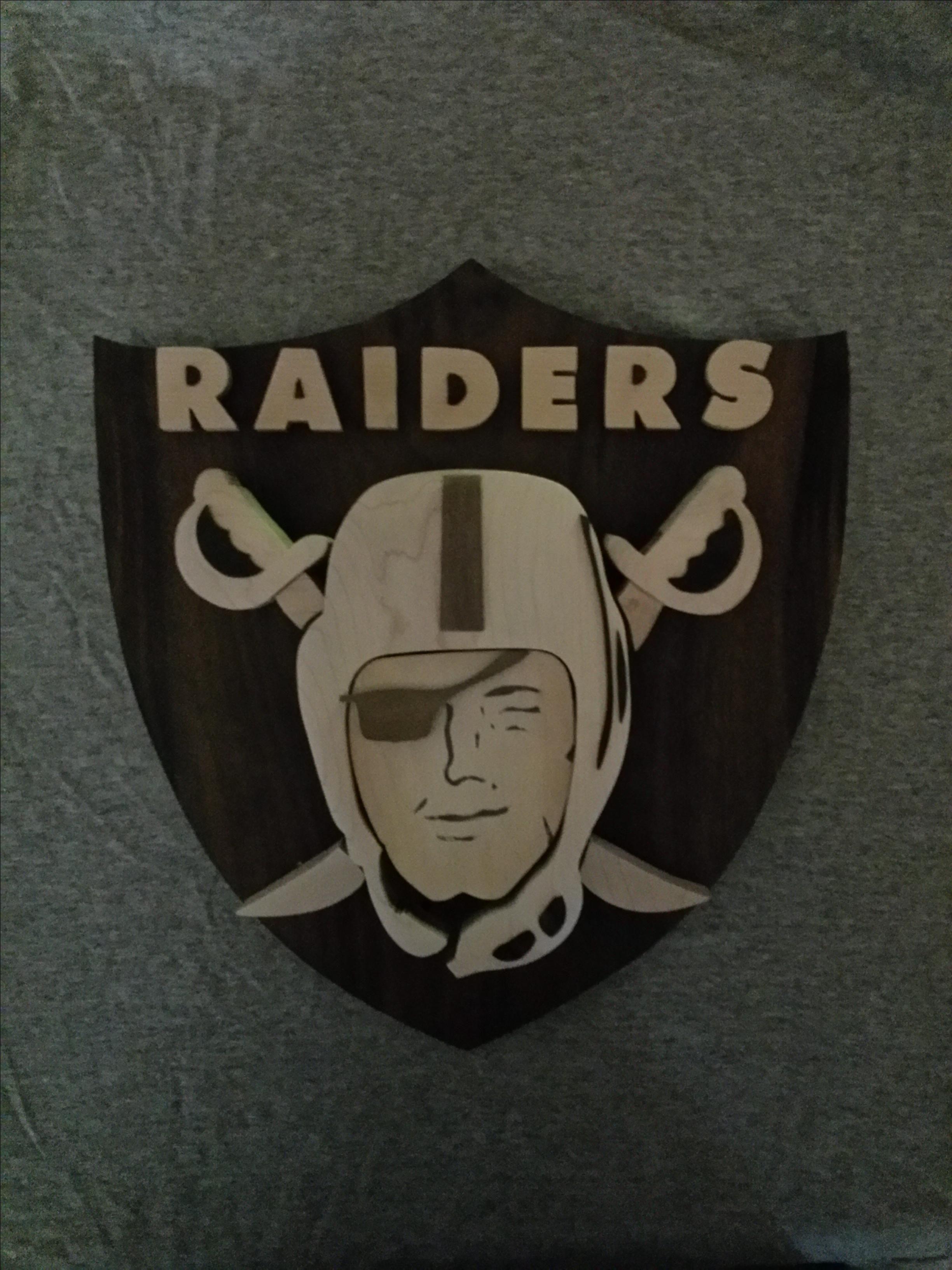 Handmade Oakland Raiders Logo By Derek Horizumi