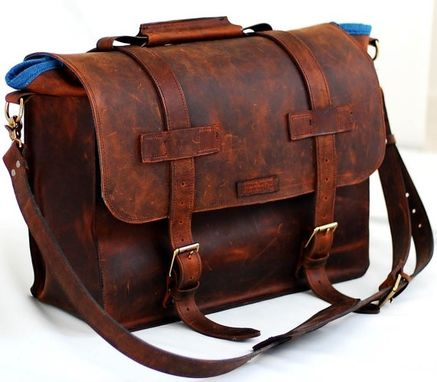 Uni Leather Bag For Any Specialty In Full Grain Mustang