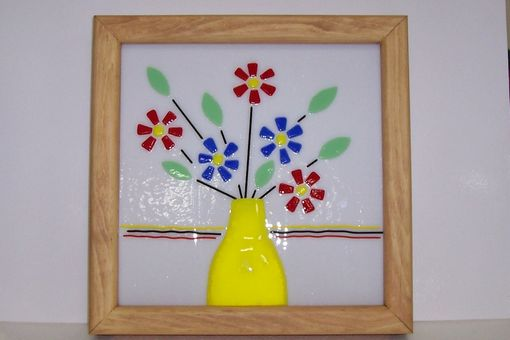Custom Made Stained Glass Daisys