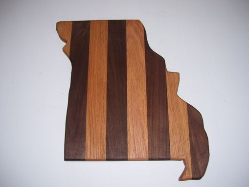 Custom Made Missouri State Cutting Board Made From Oak And Walnut