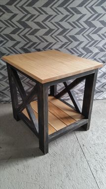 Custom Made Distressed Cherrywood End Table