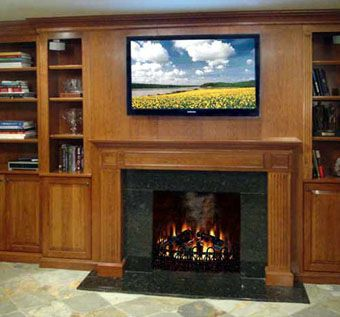 Custom Made Fireplace Mantel & Built-Ins