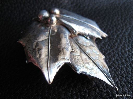 Custom Made Silver Pin: Example Only Custom Order - Pin/Brooch In Sterling And Fine Silver