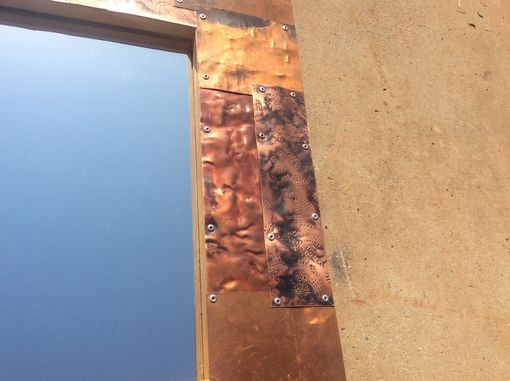 Custom Made Patchwork Copper Mirror