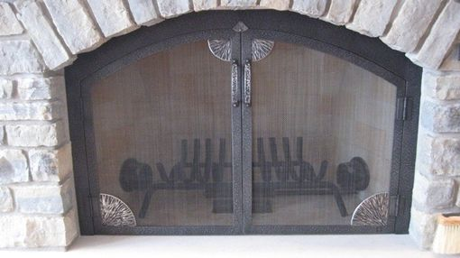 Custom Made Fireplace Screen And Tools