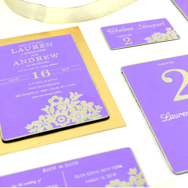 Custom Made Lilac & Brass Invitation- Mystical Moment