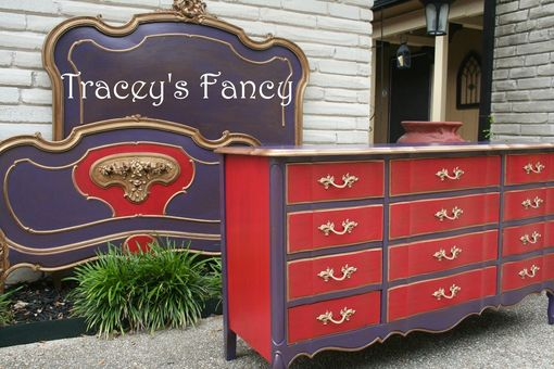 Custom Made Custom Painted French Provincial Dresser