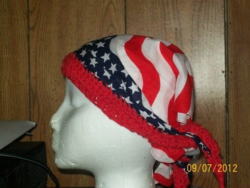 Custom Made Crocheted Brim Bandana