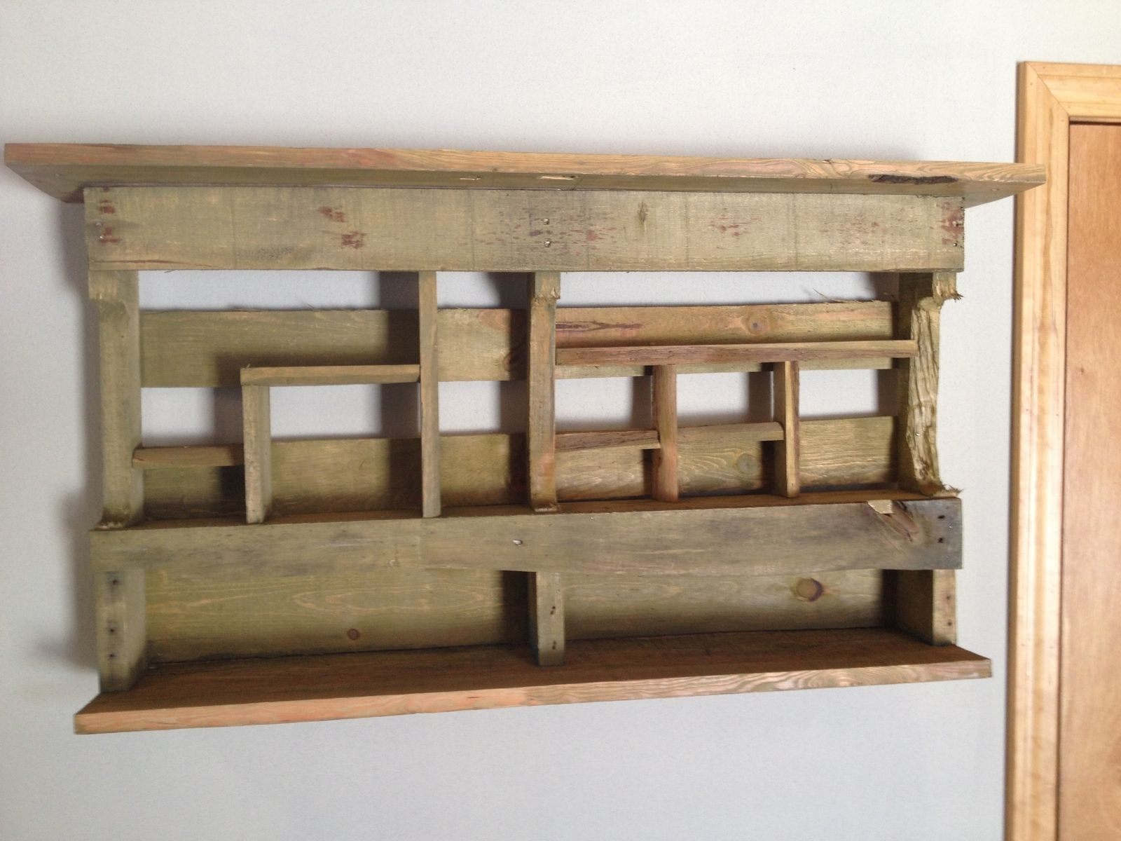 Wooden Shelves Wood ~ Custom reclaimed wood shelves cubbies by live edge