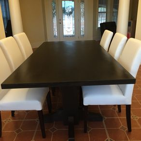Black Walnut Dining Table Extra Dark Espresso Stain