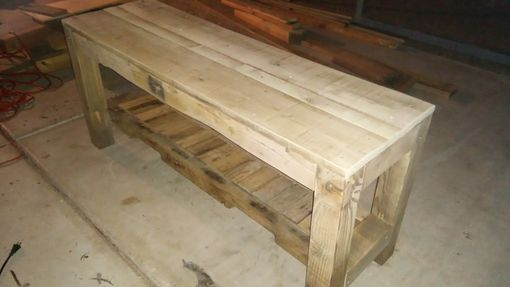 Custom Made Barn Table With Bench