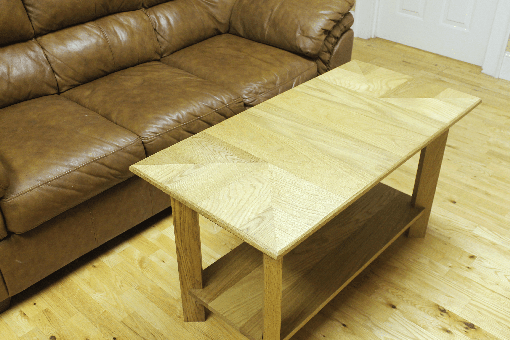 Custom Made Red Oak Coffee Table