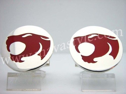 Custom Made Sterling Silver Red Thundercats Cufflinks