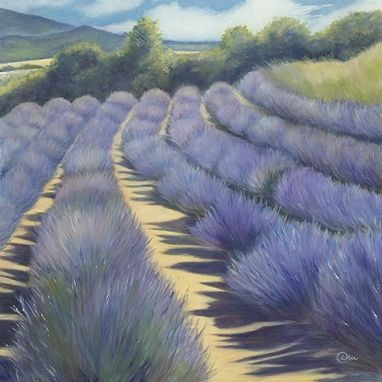 Custom Made Provence Lavender (Southern France) Oil Painting - Fine Art Print On Paper (20