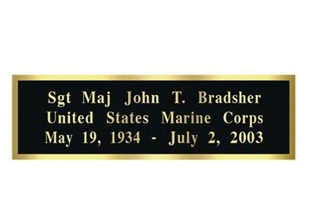 Custom Made Laser Engraved Name Plates