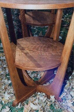 Custom Made Cherry Art Deco End Tables