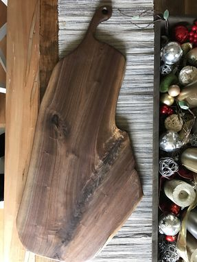 Custom Made - The Felicity - Xxl Walnut Cutting/Serving Board With Curved Handle