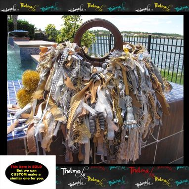 Custom Made Fabulous Elaborate Ultra Fringe One Of A Kind Unique Handbag