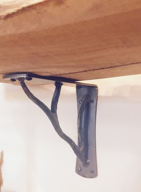 Custom Made Corbel & Shelf Bracket Forged Tree Branch