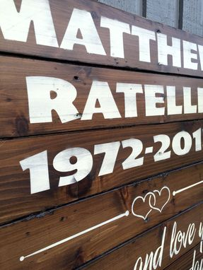 Custom Made Rustic Wood Sign, Exterior Application